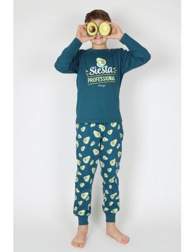 MR WONDERFUL Pijama Manga Larga Siesta para Niño