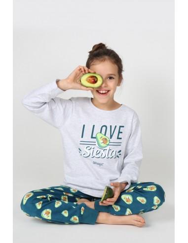 MR WONDERFUL Pijama Manga Larga Siesta para Niña