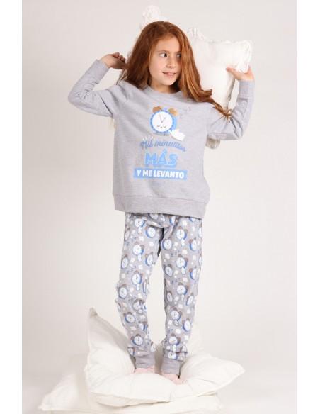 MR WONDERFUL Pijama Manga Larga Mil Minutitos Más para Niña