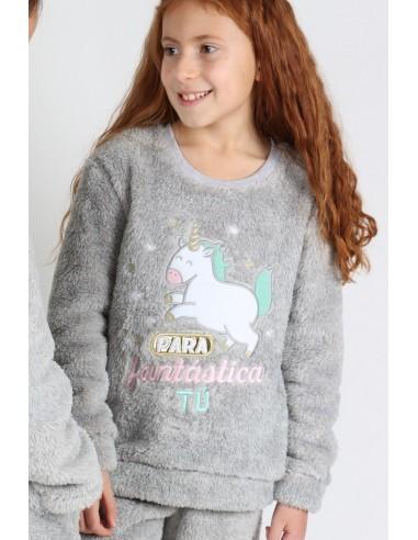 MR WONDERFUL Pijama Calentito Manga Larga Fantástica para Niña